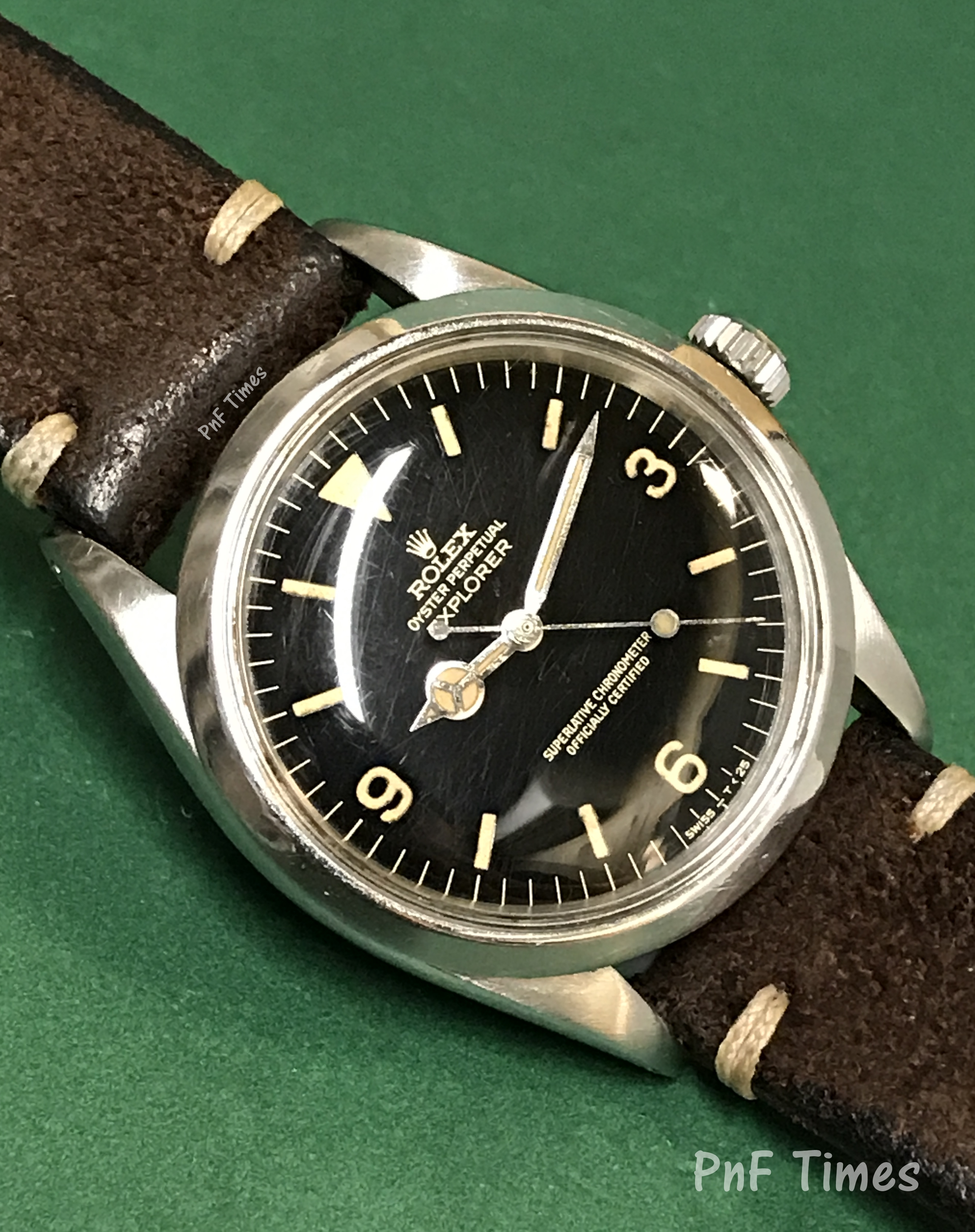 Rolex 1016 Oyster Perpetual Explorer Black Gilt Dial with